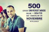 500 cursos universitarios online gratis con certificado (noviembre 2015)
